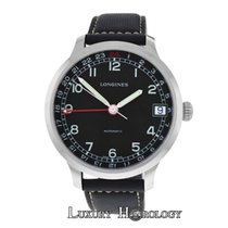론진 (Longines) New Men  Heritage Military Steel Automatic Watch...