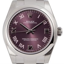 Rolex Oyster Perpetual 31 Steel Red Grape/Roman 177200