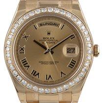 Rolex Day-Date II Yellow Gold Diamond Bezel 218348