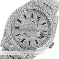 Rolex Datejust II Stahl  Full Diamond 116300