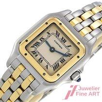 Cartier Panthére - Edelstahl + 750/18K Gelbgold - Quarz - 22 x 22