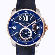 Cartier Calibre de Cartier Diver Blue Steel/Leather 42mm -...