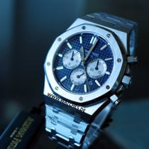 Audemars Piguet Royal Oak Chronograph Blue dial Steel -...