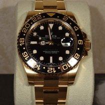Rolex 18K gold Gmt Master ii 116718LN