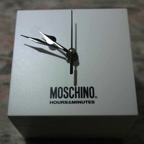 moschino vintage plastic watch box with table clock newoldstock