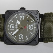 Bell & Ross Automatic  Military Stainless Steel Green