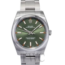 Rolex Perpetual 34 Olive Green/Steel 34mm - 114200