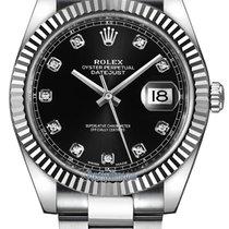 Rolex Datejust 41mm Stainless Steel 126334 Black Diamond Oyster