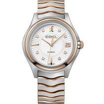 Ebel 1216322 Wave in Steel with Rose Gold Bezel - on Steel and...