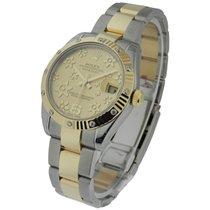 Rolex Unworn 178313 Mid Size Datejust 2-Tone with Diamond...
