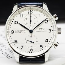 IWC IW371446 IW371446 Portuguese Chronograph SS Silver Dial /...