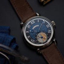 Voutilainen GMT-6 white gold two-tone blue black dial
