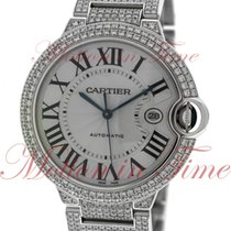 Cartier Ballon Bleu Large, Silver Dial, Diamond Bezel &...