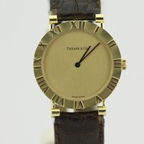 Tiffany & Co. 18k Yellow Gold Atlas Quartz Watch On Strap
