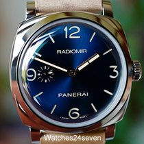 Panerai PAM 690 Blue Sandwich Sunburst Dial 3 Day 1940 Acciaio...