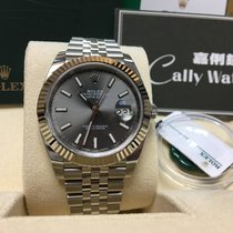 Rolex Cally - {2017 New} Datejust 41mm 126334 dark rhodium dial