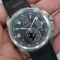 Cartier Calibre De Cartier Black Dial Stainless Steel W7100041