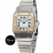 Cartier Santos Lady Gold and Steell