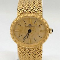 Baume & Mercier Vintage Ladies 18k Yellow Gold  Oval Dial...
