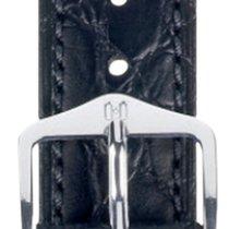 Hirsch Uhrenarmband Leder Aristocrat schwarz( 03828050)-2-18 18mm