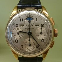 Universal Genève vintage UG chronograph pink gold tri compax...