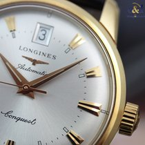 Longines Conquest Heritage Yellow Gold 35mm Silver Indexes...