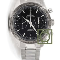 Omega Speedmaster 57 chronograph black dial steel