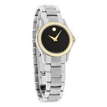 Movado Military Ladies Two Tone Black Dial Swiss Quartz Watch...
