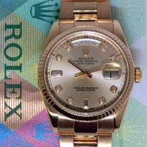 Rolex Day-Date 18k Rose Gold Diamond Dial Mens Watch Box/Paper...