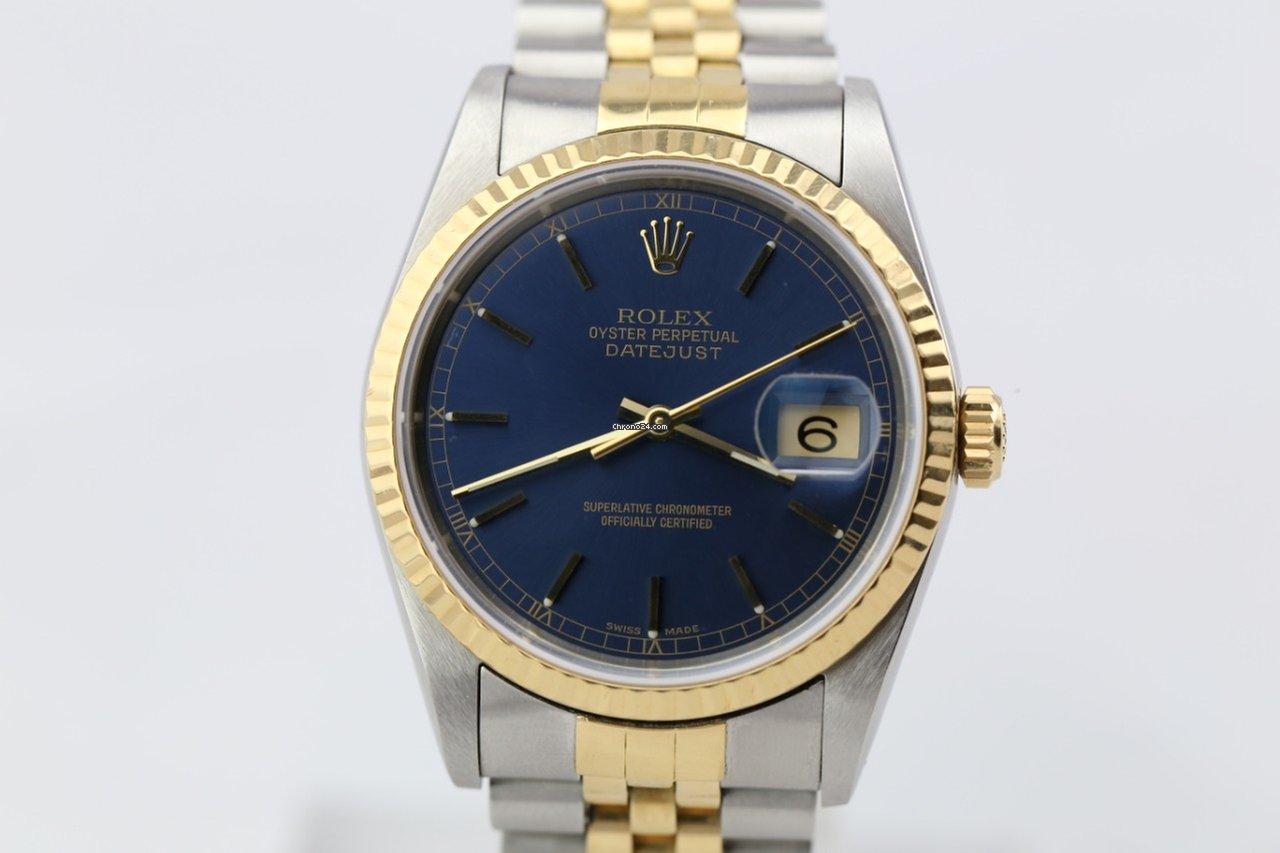 Rolex Datejust blue dial rare  nice condition za 3 52df652a06b