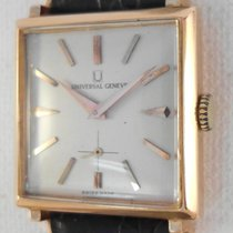 Universal Genève 18 k solid gold cal 800 with croco strap...