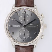 IWC Portuguese Chronograph WG, with diamond, limited edition