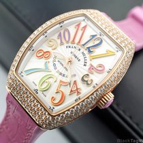 Franck Muller Vanguard Rose Gold Diamods Color Dreams Lady