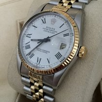 Rolex Oyster Datejust Jubilee Gold Steel White Roman Dial 36 mm