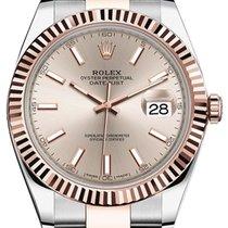 Rolex Datejust 41 126331 Sundust Index Fluted Rose Gold...