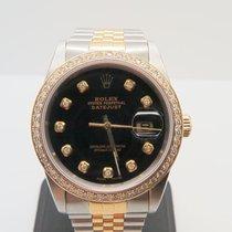 Rolex Datejust 18k Gold Steel Factory Dial Non-Factory Bezel