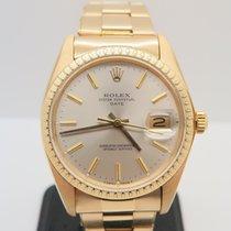 Rolex Date 18k Yellow Gold 34mm Ref 1500 Plexiglass (Rolex Box)