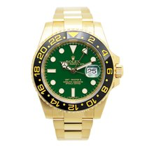 Rolex Gmt-master II 18 K Yellow Gold Green Automatic 116718LNG...