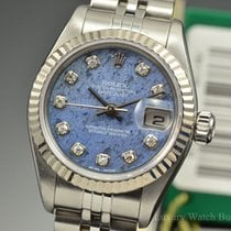 Rolex Datejust Steel Sodalite Diamond Dial Automatic 79174