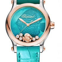 Chopard Happy Fish 18K Rose Gold Stainless Steel &...