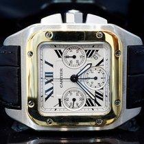 Cartier 2006 Santos 100XL Chronograph, Steel & Gold, Box...