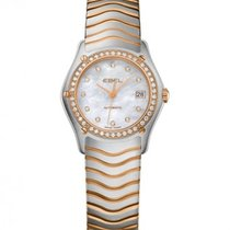 Ebel Classic Rose Gold Steel Case and Strap, Diamond Bezel