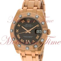 Rolex Datejust Pearlmaster 34mm, Chocolate Dial with Diamond...