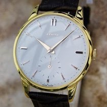 Zenith Swiss Made Mens Manual 1950s Gold Plat Rare Luxury 36mm...