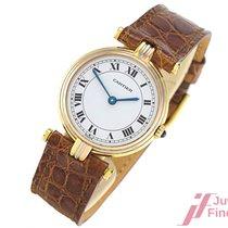 Cartier Vendome Trinity - 750/18K Gold/Leder - Quarz - Ø 24,5 mm