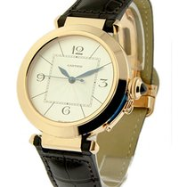 Cartier W3019351 Pasha 42mm in Rose Gold - Rose Gold on Strap