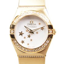 Omega Constellation Yellow Gold And Diamonds White Quartz...