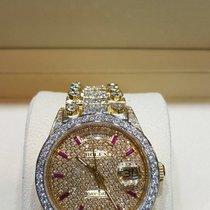 Rolex Day-Date yellow gold diamond setting