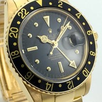 Rolex GMT Matser Vintage Nipple Dial 18K Gold Box Papers Revision