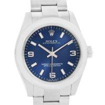 Ρολεξ (Rolex) Midsize Blue Dial Oyster Bracelet Steel Ladies...